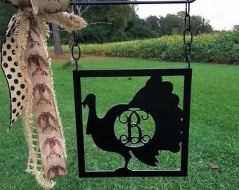 """14"""" Monogram Turkey Garden Flag"""