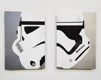 Star Wars Stormtroopers painting on Steel - Pair