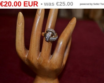 winter sales Rodium plated and gold plated ring with swarovski tjan207
