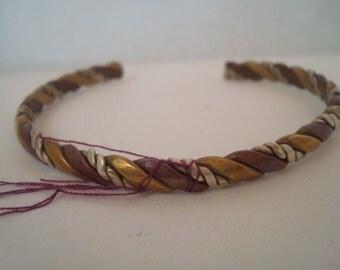 Vintage multi-metal bangle bracelet
