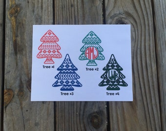 Aztec Christmas Tree Iron-On Vinyl Decal~ Glitter Iron-On Vinyl Decal~ Iron-On Vinyl Decal
