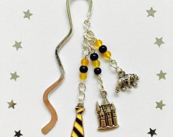 Handmade Hufflepuff hook bookmark inspired by Harry Potter!