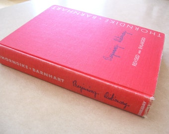 Beginning Dictionary Thorndike & Barnhart HC 1959 Children's Dictionary Vintage