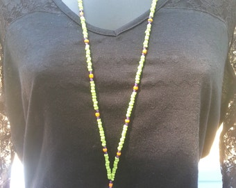 White Monster Beaded Lanyard