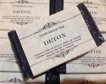 Detox Natural Homemade Soap (activated charcoal and sea salt)