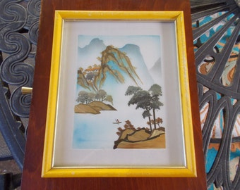 Set of 2 Wheat Stalk Cutting Pictures/ Wheat Stalk/ Pictures/ Hand Cut/ 8x10/ 5x7/ Vintage/ Home Decor/ Wall Hanging/ Chinese Art