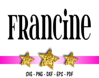 Francine Font Design Files For Use With Your Silhouette Studio Software, DXF Files, SVG Font, EPS Files, Png Font, Font Silhouette