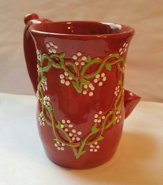 Wake And Bake Coffee Mug With Smoking Pipe Celtic Knot Heart