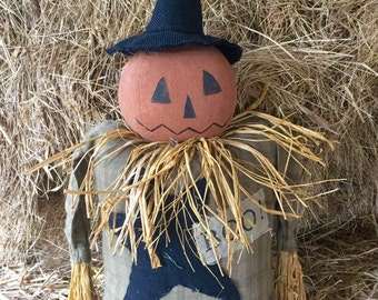 Primitive Halloween Witch -Primitive Halloween Decor-Primitive Jack-O-Lantern -Pumpkin Decor-Primitive Pumpkins -Fall Decor