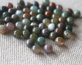 2/3/4/6/8/10/12mm India Agate Smooth Round Beads, 15'' one strand
