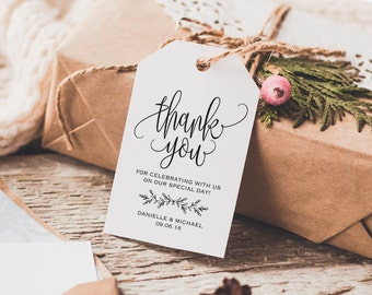 Thank You Tag, Wedding Thank You Tag, Rustic Wedding, Wedding Favor, Thank You Printable, Wedding Printable, PDF Instant Download #BPB202_32