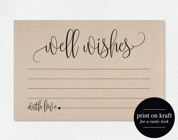 well wishes wedding advice cards well wishes card well