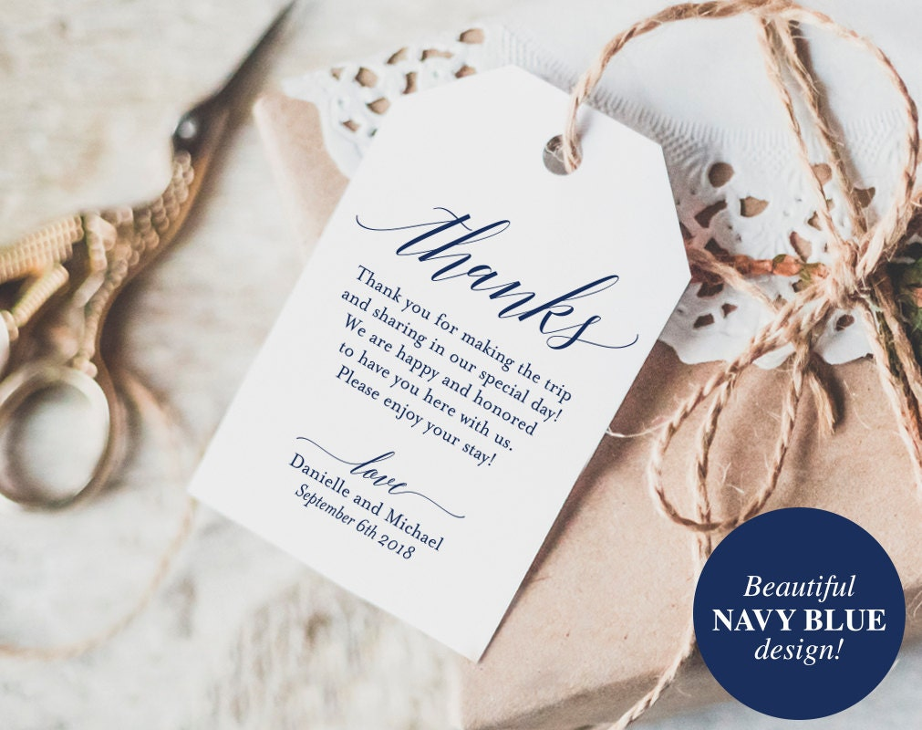 Thank You Tags Wedding Thank You Gift Tags Wedding Favor