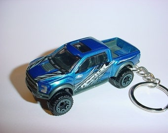 3D 2015 Ford F-150 Raptor truck custom keychain by Brian Thornton keyring key chain finished in blue 4x4 racing trim pick up offroad