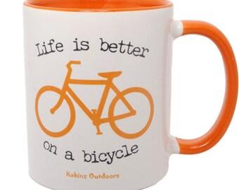 Road Bicycle Coffee Mug,  Bicycle Mugs, Coffee Mugs, Bike Mugs, Bike Coffee Mugs, Gift for Cyclist, Bicycle Gift, Bicycle Gift for Him, Mug