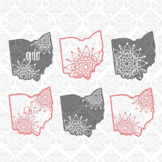 Ohio Mandala Filigree Zentangle Paisley Intricate SVG DXF Ai EPs PNG Scalable Vector Instant Download Commercial Cut File Cricut Silhouette