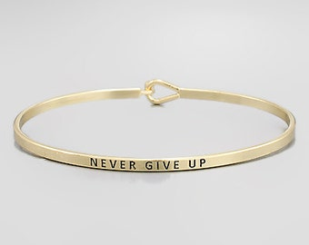 Never Give Up Bangle