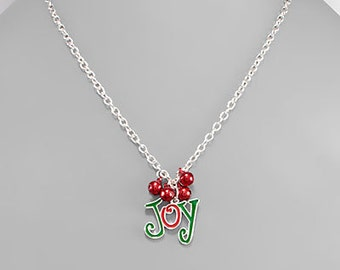 CLEARANCE - Joy Charm & Jingle Bells Charm Necklace