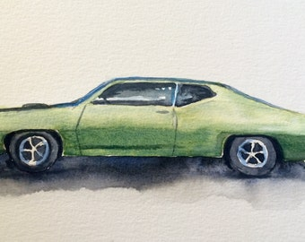 Gran Torino, muscle car, car painting