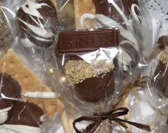 S'Mores Pops - Easter Treats, St. Patrick's Day, Marshmallow Pops, One dozen, Gourmet, Chocolate Covered Marshmallows, favors, homemade,