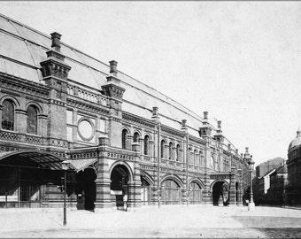 24x36 Poster . Berlin Friedrichstrasse Railway Train Station 1885