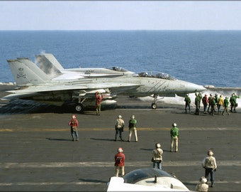 24x36 Poster . F-14A Tomcat Vf-84 Jolly Rogers Uss Theodore Roosevelt