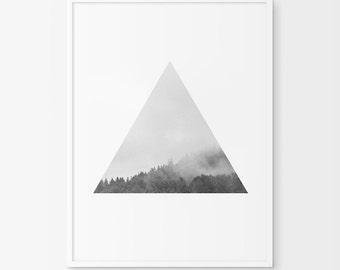 Black Forest Print, Forest Photography, Triangle, Tree Print, Triangle Print, Forest Art, Photography Print, Geometric Print, Geometric