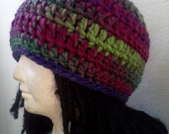 Thick, Fluorescent Wool Skully