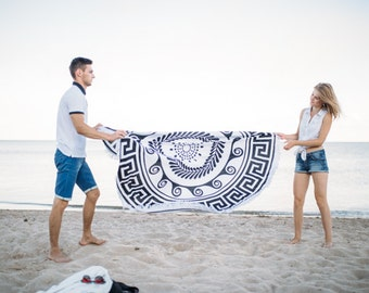 Mandala Beach Towel Mandala Throw Roundie Towel Beach Blanket Large Round Towel Picnic Blanket