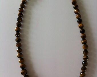 Tiger eye semi precious stone necklace