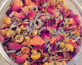 Rose, Lavender and Chamomile Herbal Tea - Organic Tea - Dried Flowers - Organic Herbal Tea