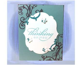 Thinking of You, You're On My Mind, Thoughts of You, Miss You, For Him, For Her, Best Wishes Friend, Hi There, Hello Friend, CraftiqueCards