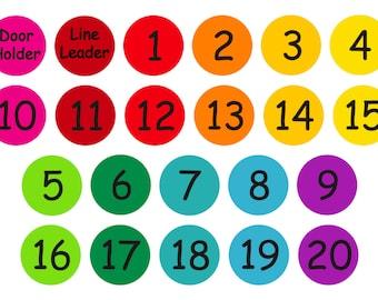 Teacher's helper - numbers 1-20, floor decals