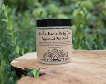 Peppermint Foot Scrub • All Natural • Foot Care • Organic Body Care • Exfoliate • Pumice • Vegan