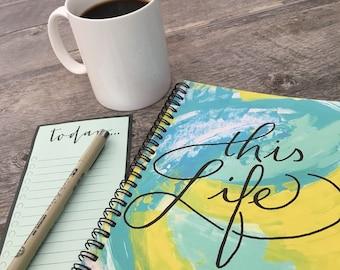Bullet journal, Gratitude journal, travel notebook, travel journal, spiral notebook, A5 notebook, daily diary, lined notebook, gift for her