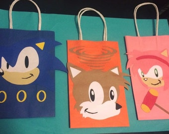 Sonic the Hedgehog Favor Bags