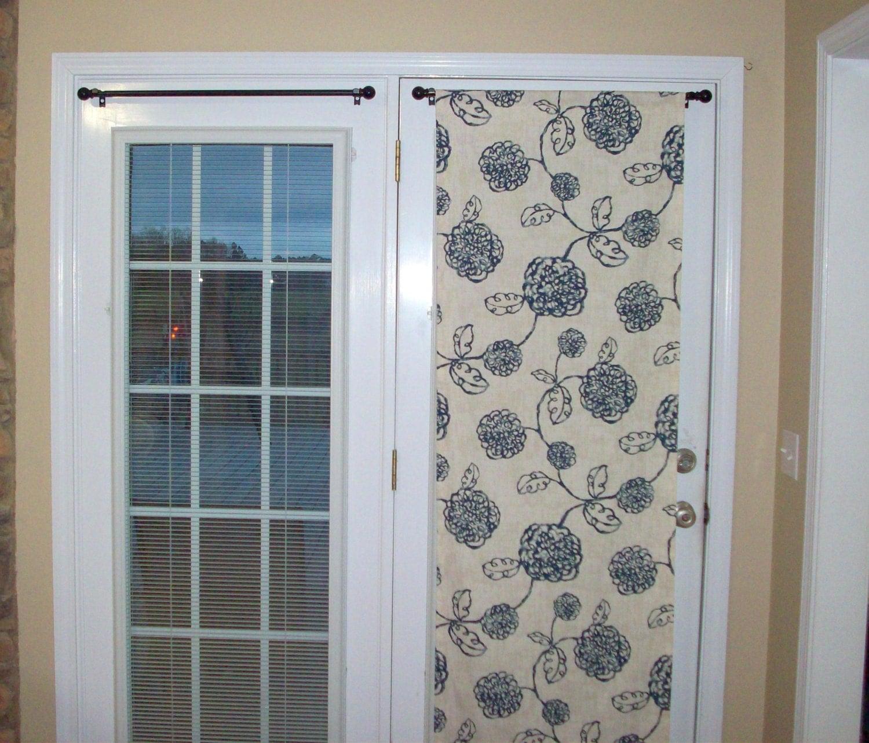 Door Panel Material : Door panels custom foyer rod pocket front by