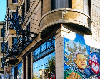 Chicago Photography Art Print, Graffiti Reflection, Pilsen
