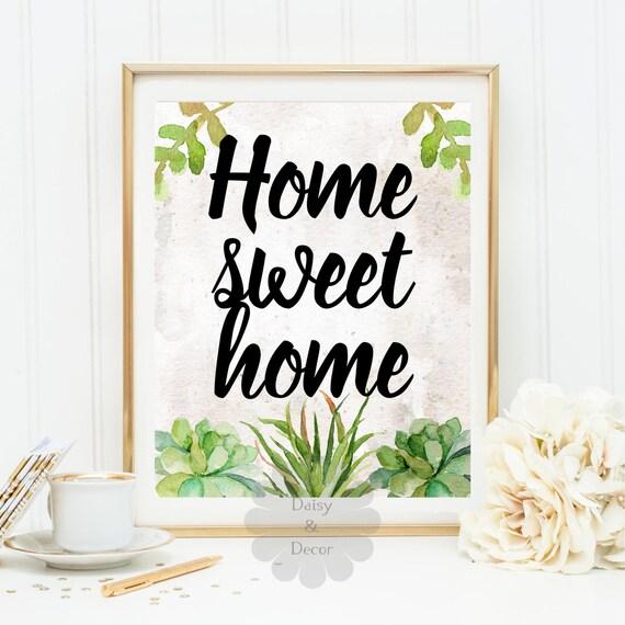 home sweet home quote art print wall decor printable wall art