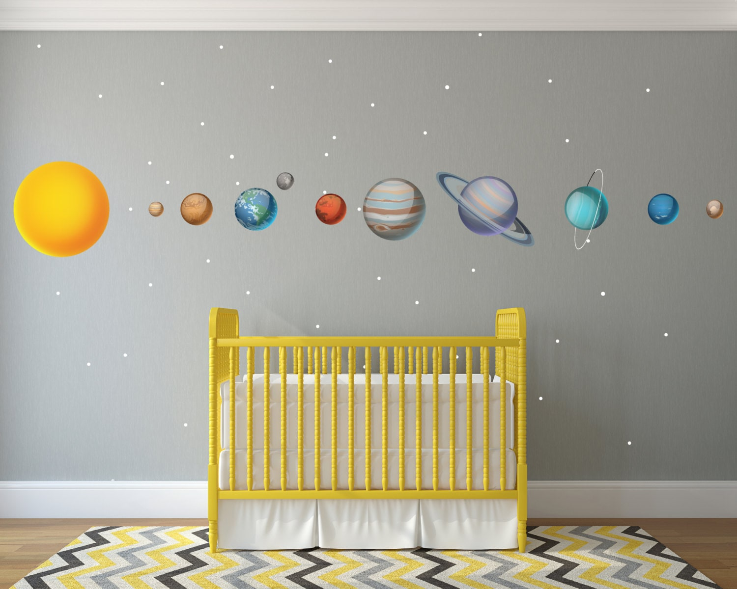 Solar System Wall Sticker Decorations