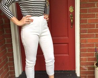 Vintage black and white stripe Jumpsuit/romper/Medium/Size5