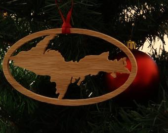 Large Upper Peninsula Ornament