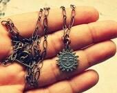Sun Pendant Necklace, Sun Necklace, Sun Jewelry, Sun Gifts, Sun Accessories, Aquamarine Sun Necklace, Sun Jewlery, Salvina's Treasures