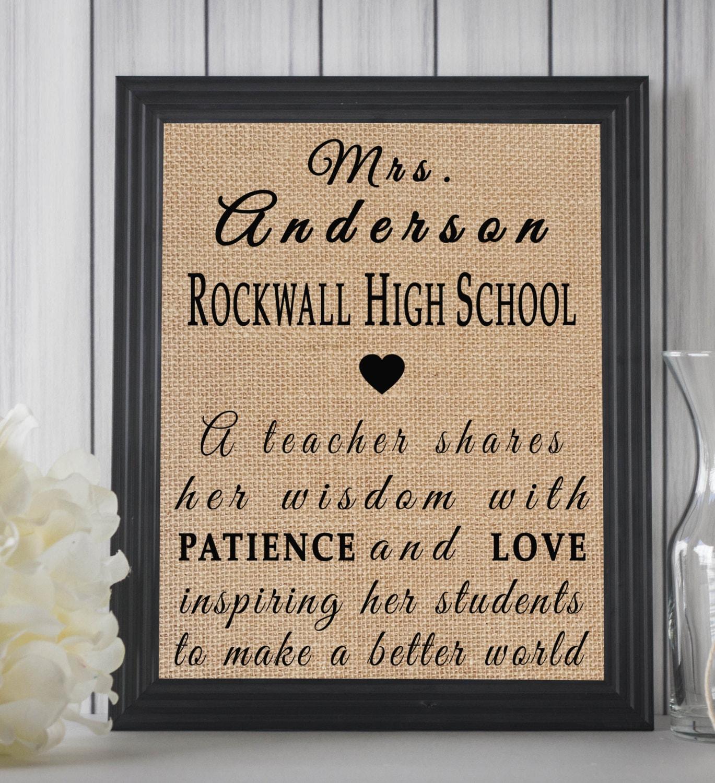 custom teacher appreciation gift high school teacher gift. Black Bedroom Furniture Sets. Home Design Ideas