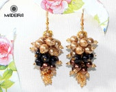 A bunch of earrings, chocolate brown, festival, flowers, summer