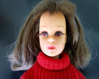 1966 Francie Doll with Clothes - Brunette Flip Hairstyle, Rooted Eyelashes, Bendable Legs, Vintage Barbie Dolls, Collectible, 1960's Mattel