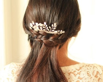 Bridal Hair Comb - Cherry Blossoms  Hair Comb - # 10 - Made to Order