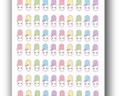Itty Bitty Kawaii Happy Pill Stickers