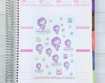 Kawaii SKD Planner Girl Stickers