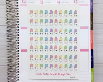 Kawaii Happy Pill Stickers (new)